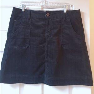 WOOLRICH A Line Skirt Black Mini Micro Cord 12